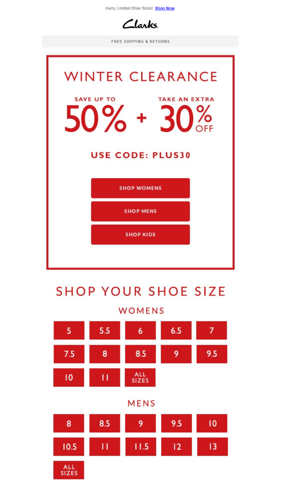 clarks_email_promotion