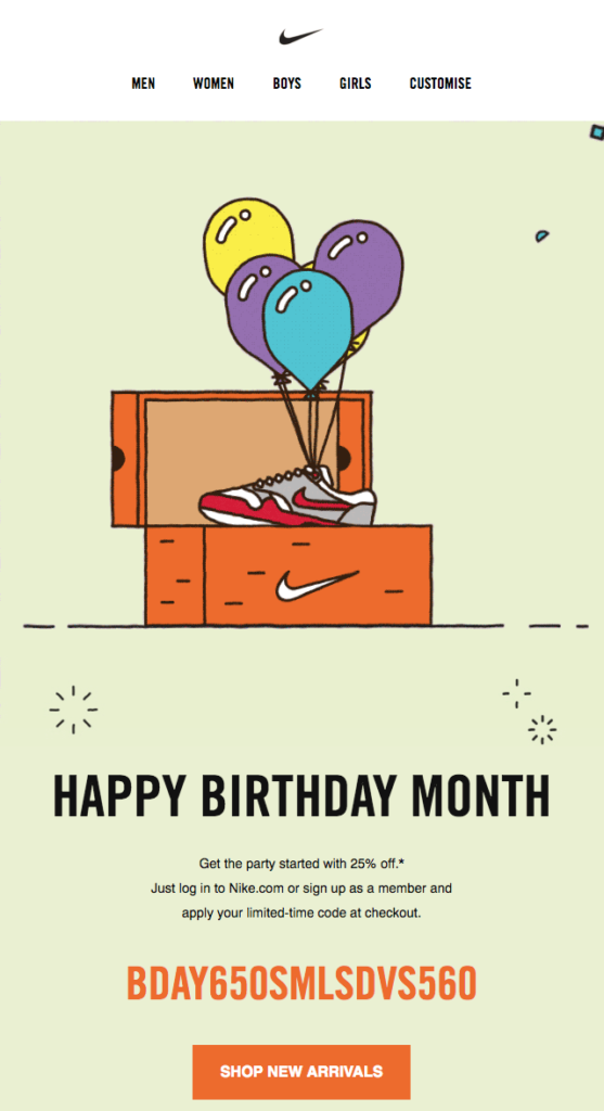 nike_happy_birthday_promotional_email