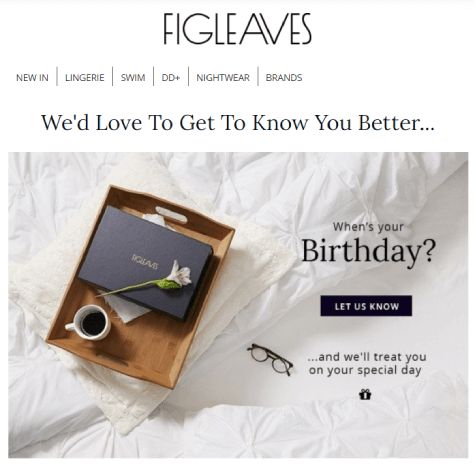 figleaves_asking_customer_birthday_date_in_email_campaign