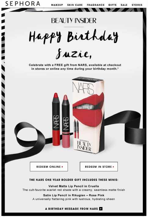 sephora_personalized_happy_birthday_email_to_clients