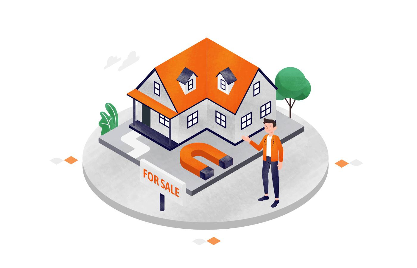 lead_generation_ideas_for_real_estate_illustration